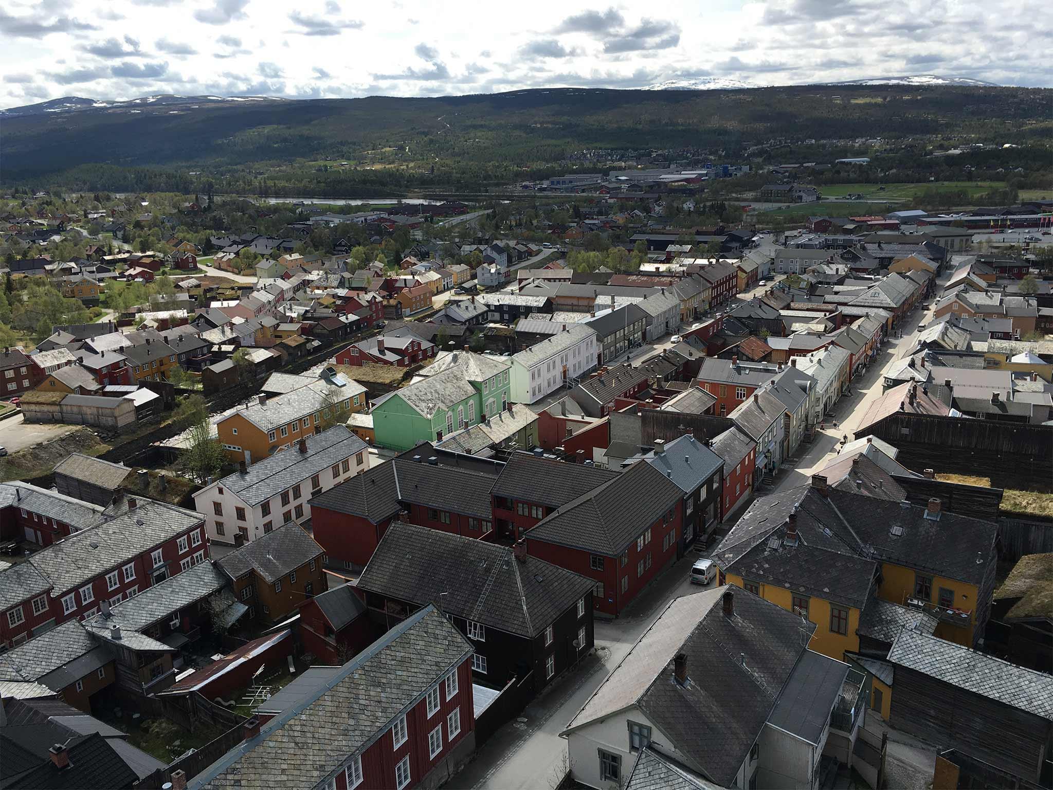 Oversiktsbilde Røros Bergstad