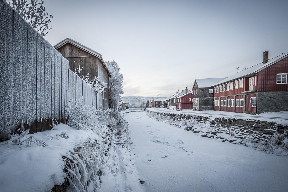 Vinterbilde av Hitterelva