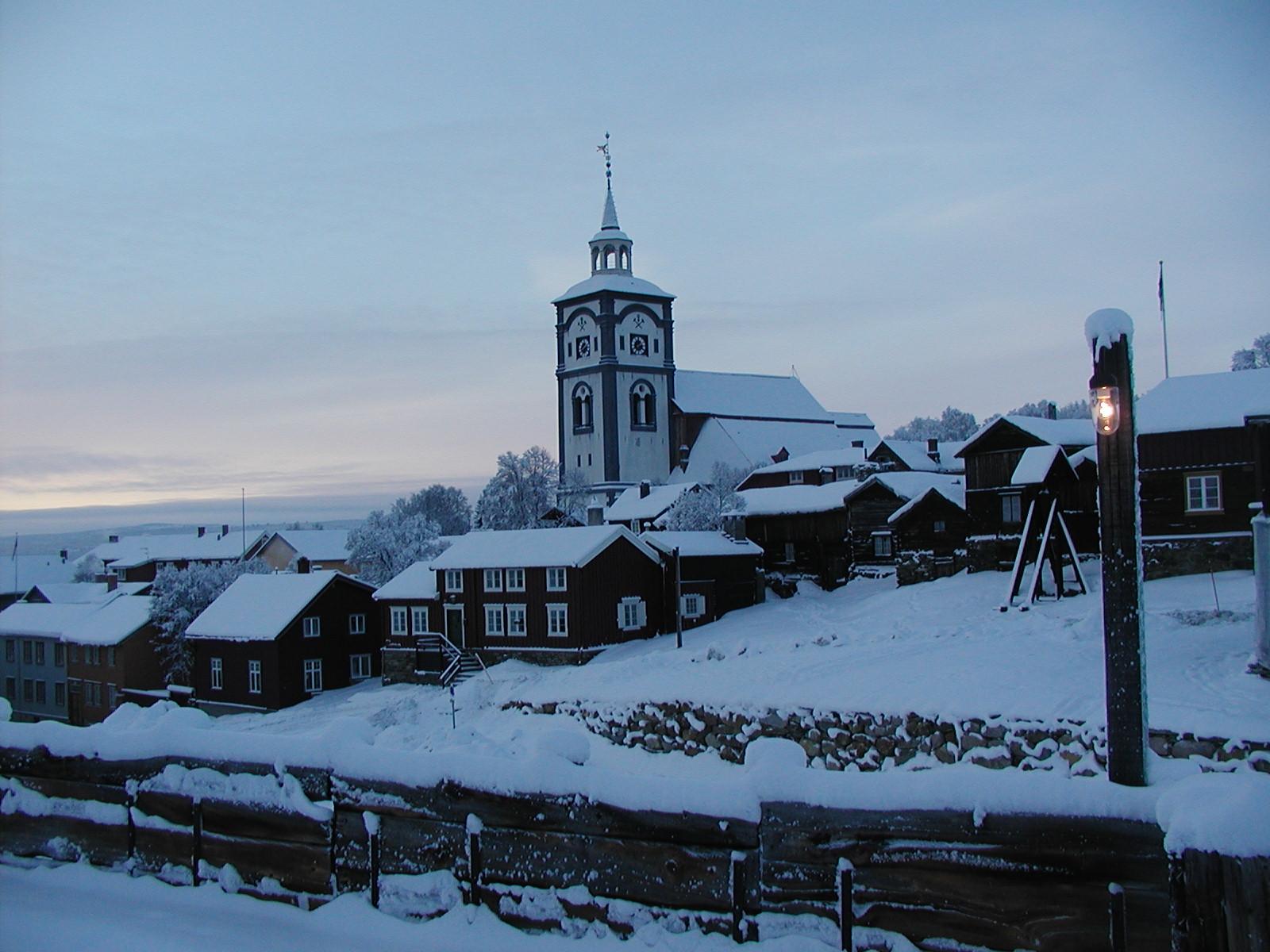 Vinterbilde av Bergstadens ziir