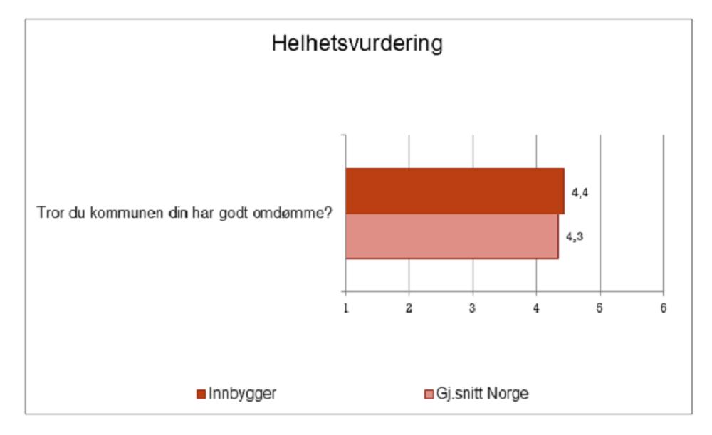 Resultater av en helhetlig oppsummering av omdømme_innbyggerundersøkelsen