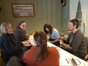 Linda Wintervold fra Svaale sammen med deltakere fra Snåsa, Trondheim og Liv Ingegerd Selfjord fra Fylkesmannen i Trøndelag
