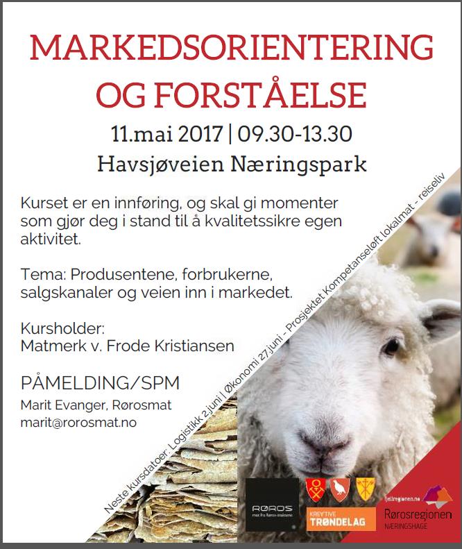 Program kursserie for lokalmatprodusenter, i regi av prosjektet kompetanseløft lokalmat og reiseliv