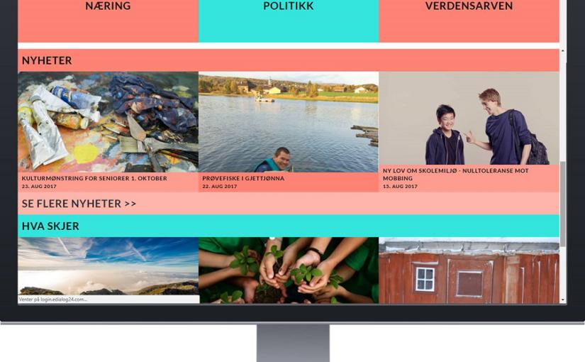 Ny forside på Røros kommune sin nettside