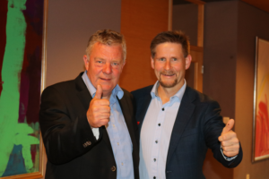 Ordfører Hans Vintervoll og rådmann Bernt Tennstrand