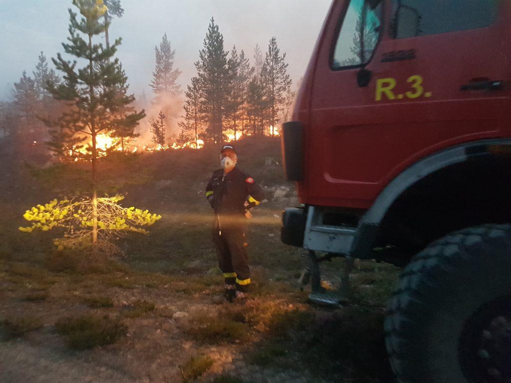 Brannbilen tilhørende Os kommune