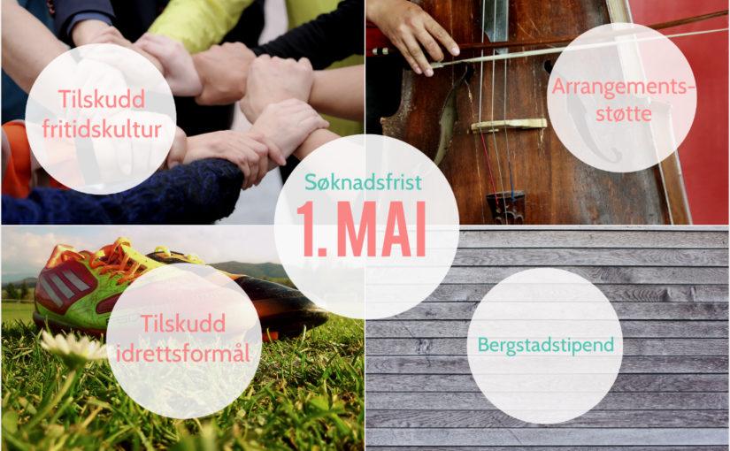 Søk kultur- og idrettstilskudd og Bergstadstipend før 1. mai!