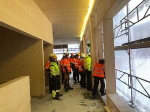 RVGS besøk på byggeprosjekt på Øverhagaen