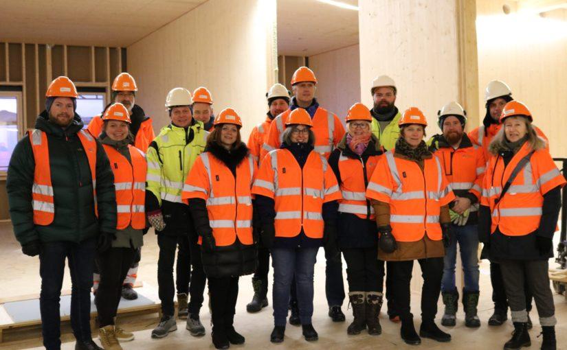 Milepæl med tett bygg på Øverhagaen bo-, helse- og velferdssenter