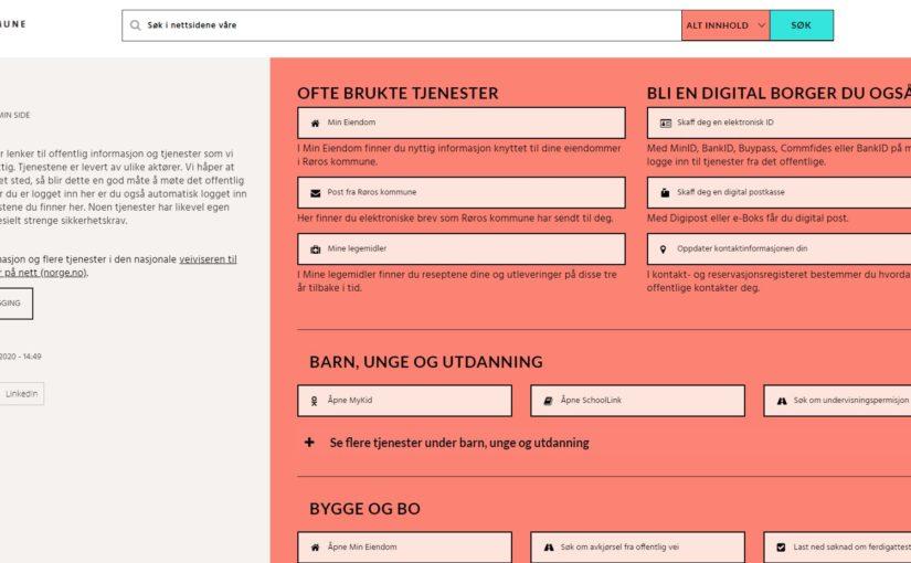 Lanserer Min side – for deg som er innbygger i Røros kommune
