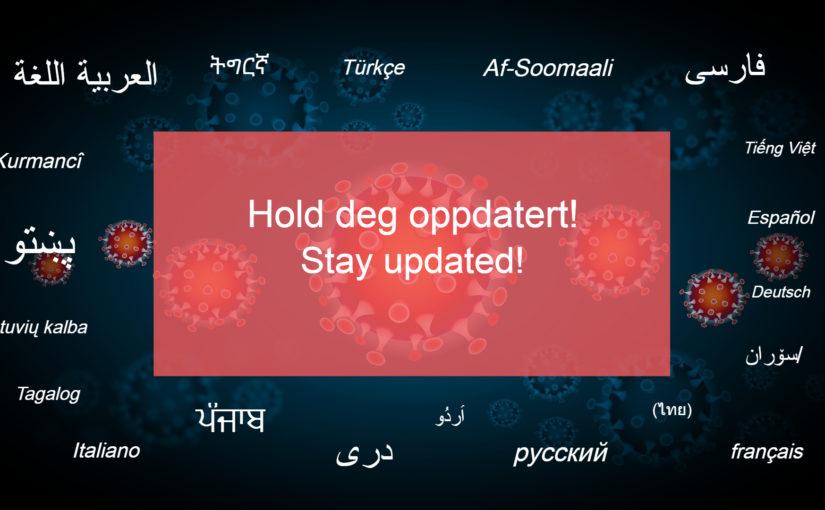 Hold deg oppdatert om koronaviruset – på flere språk
