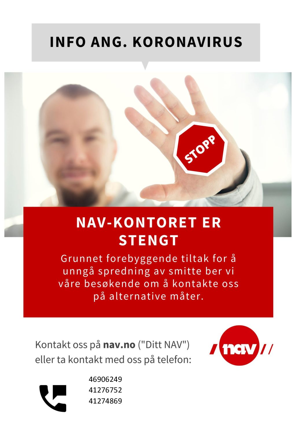 NAV-kontoret er stengt