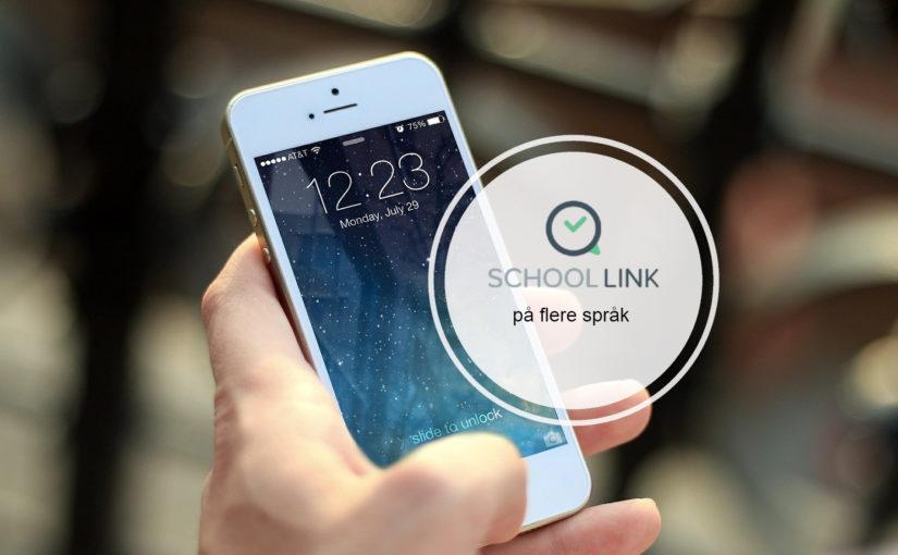 Informasjon i SchoolLink på flere språk