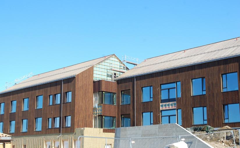 Byggeprosjektet på Øverhagaen går sin gang