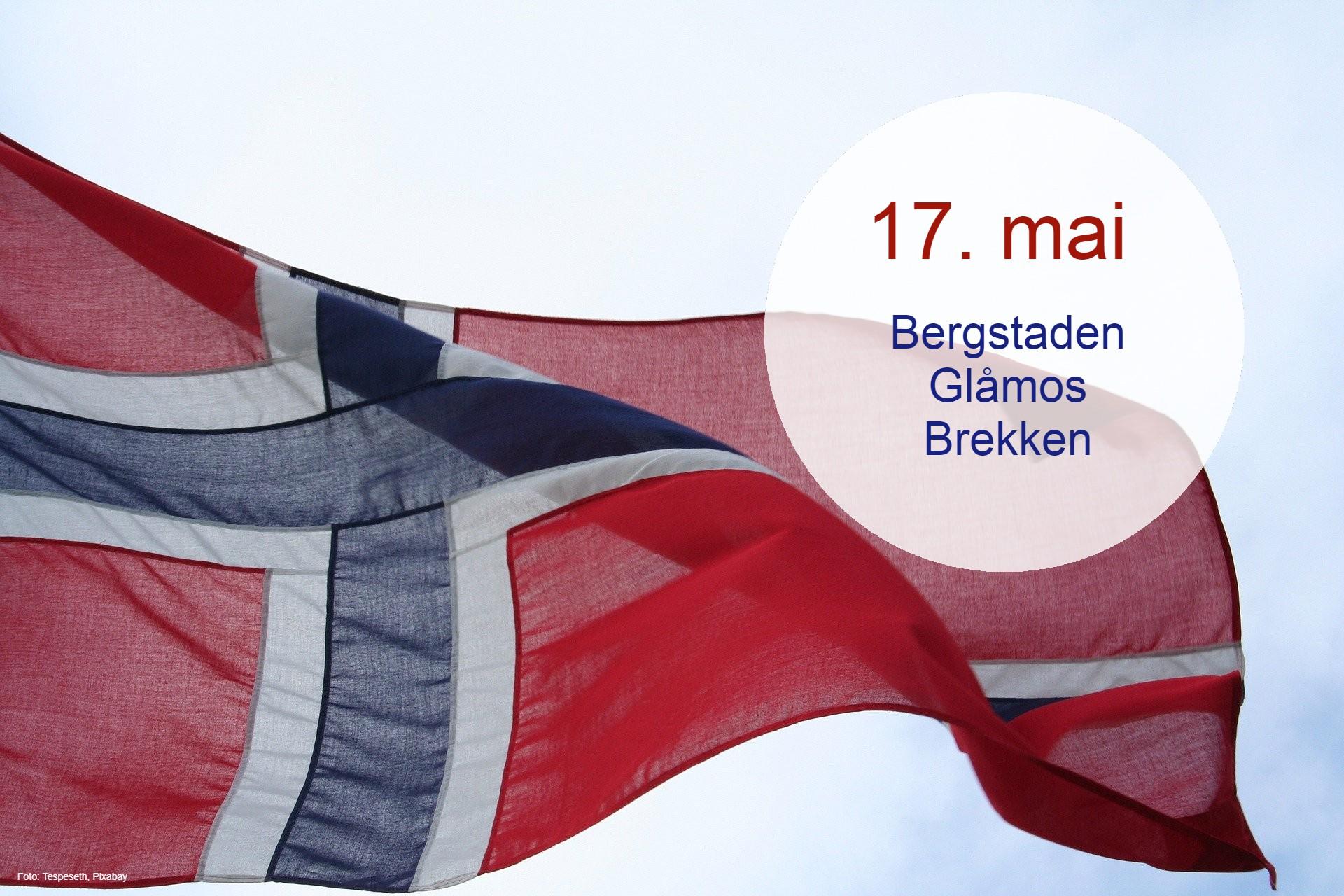 Illustrasjon flagg 17. mai