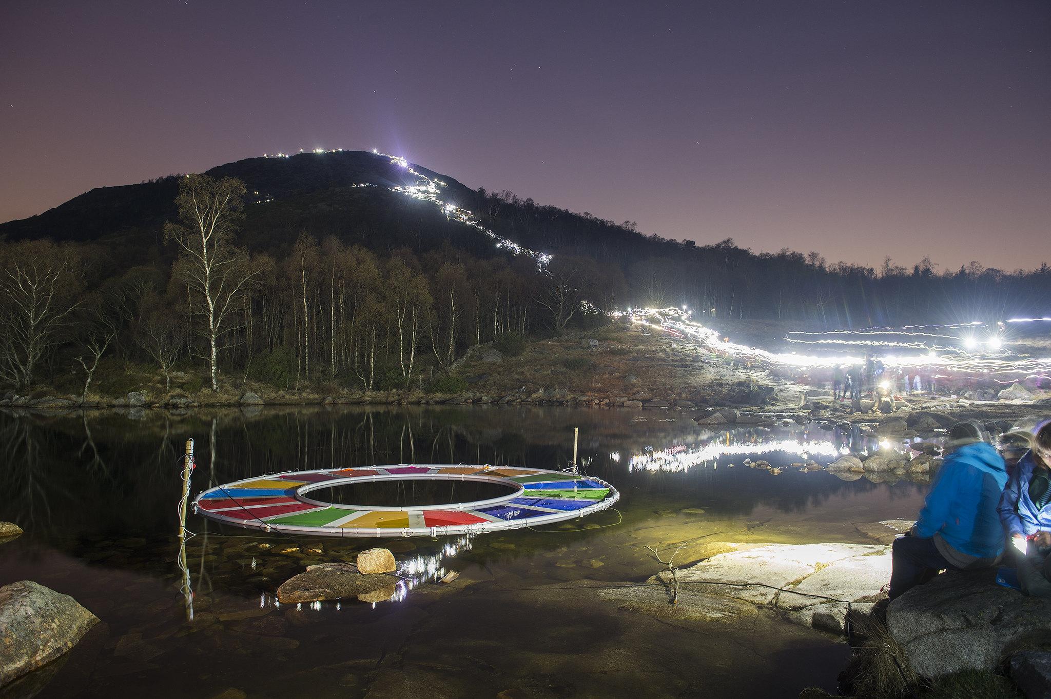 Foto av Aleksander Ramsland . Fra nattevandring for FNs bærekraftsmål.