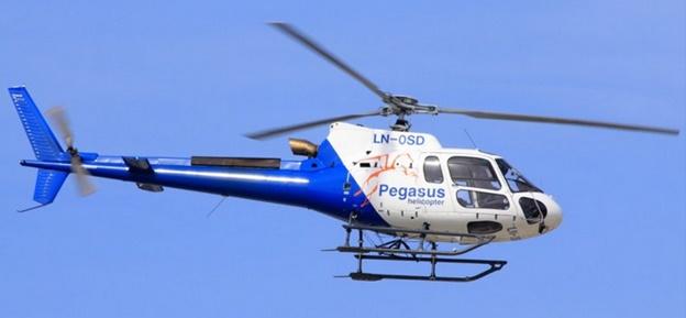 Helikoptermålinger i Røros-området