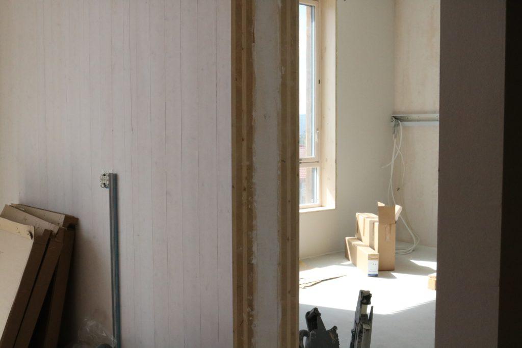 bilde fra døråpningen i et av de nye dobbeltrommene