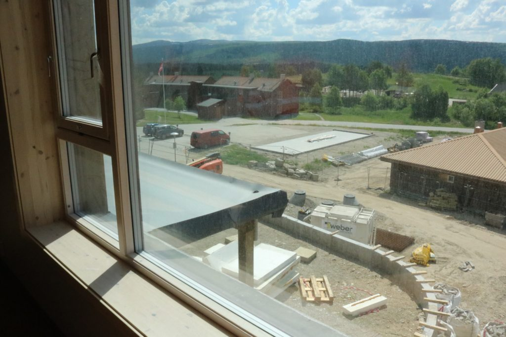 Bilde fra utsikt mot Hagen og det som skal bli to nye balkonger