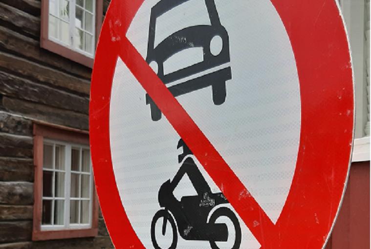 Gater blir midlertidig stengt for motorkjøretøy