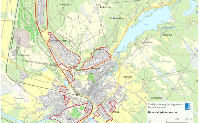 Fornyelse av boligplaner – arbeidet med forslag til nye reguleringsplaner i Røros tettsted
