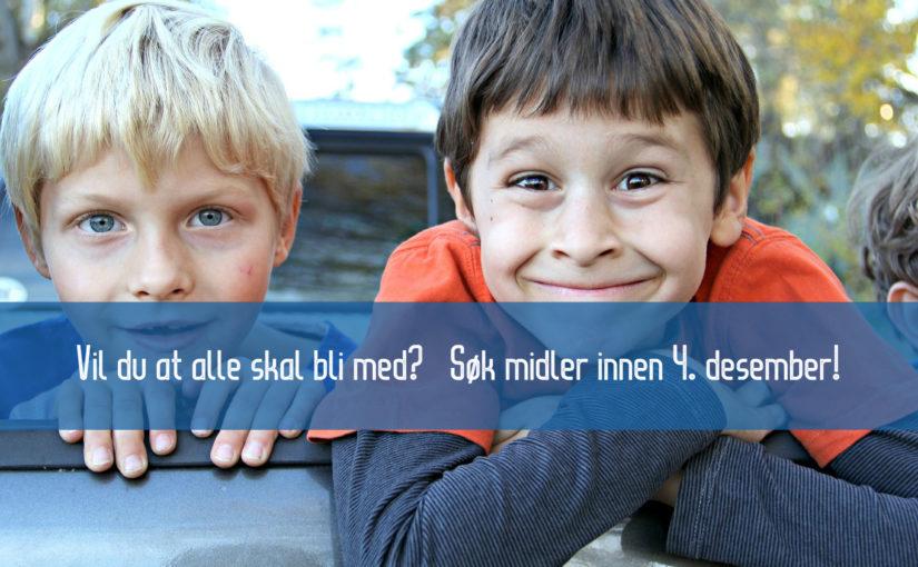 Nå kan du søke midler fra Bufdir for inkludering av barn og unge