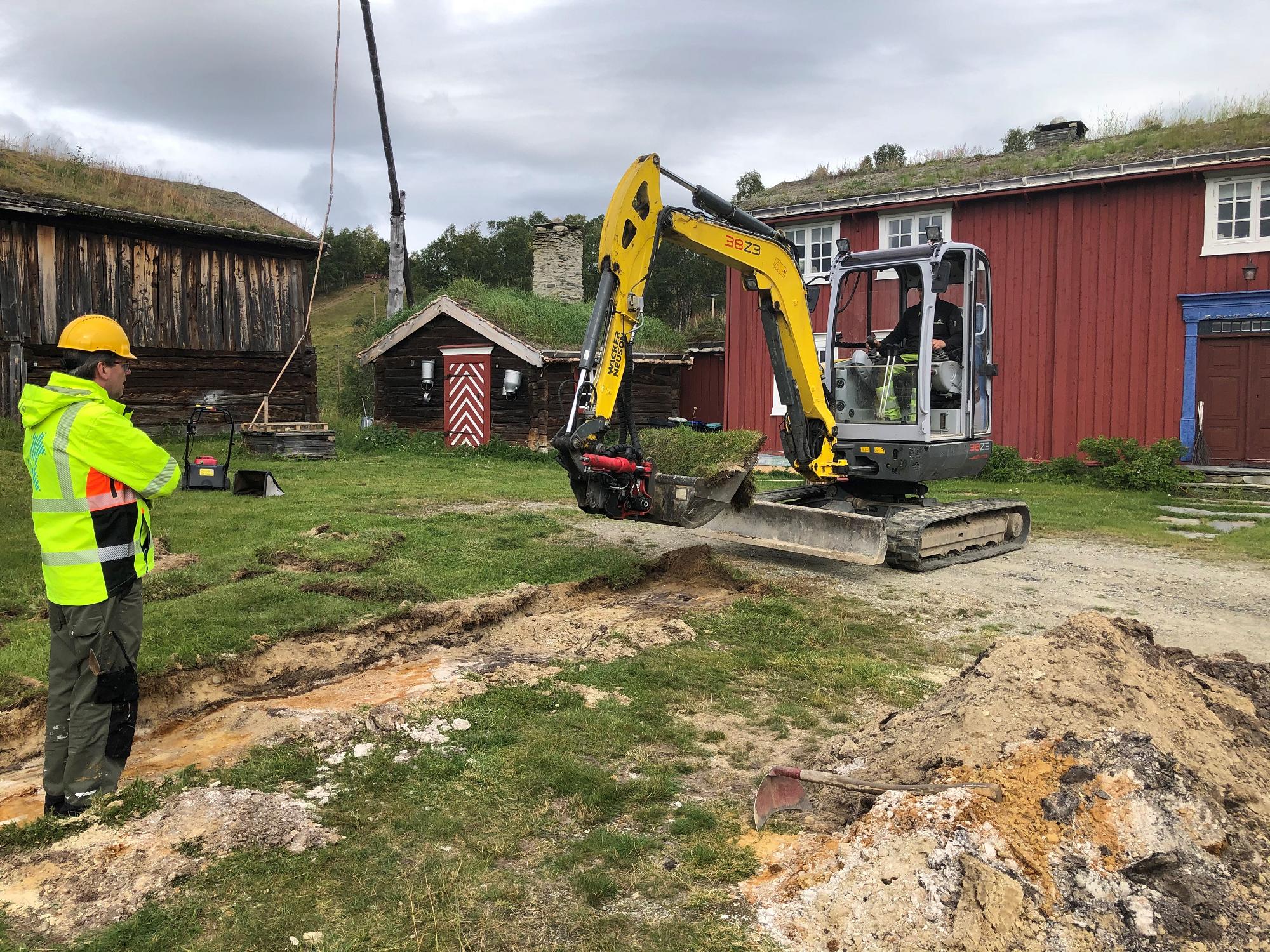 Prøvegraving i Aasengården. Foto: Magnus Borgos.