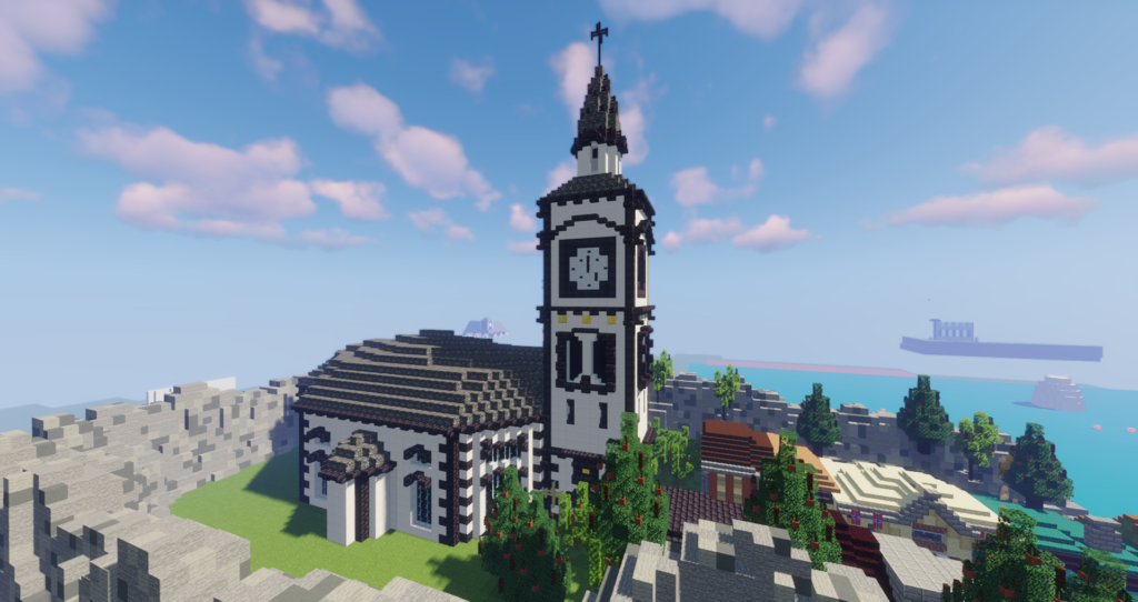 Røros kirke i Minecraft