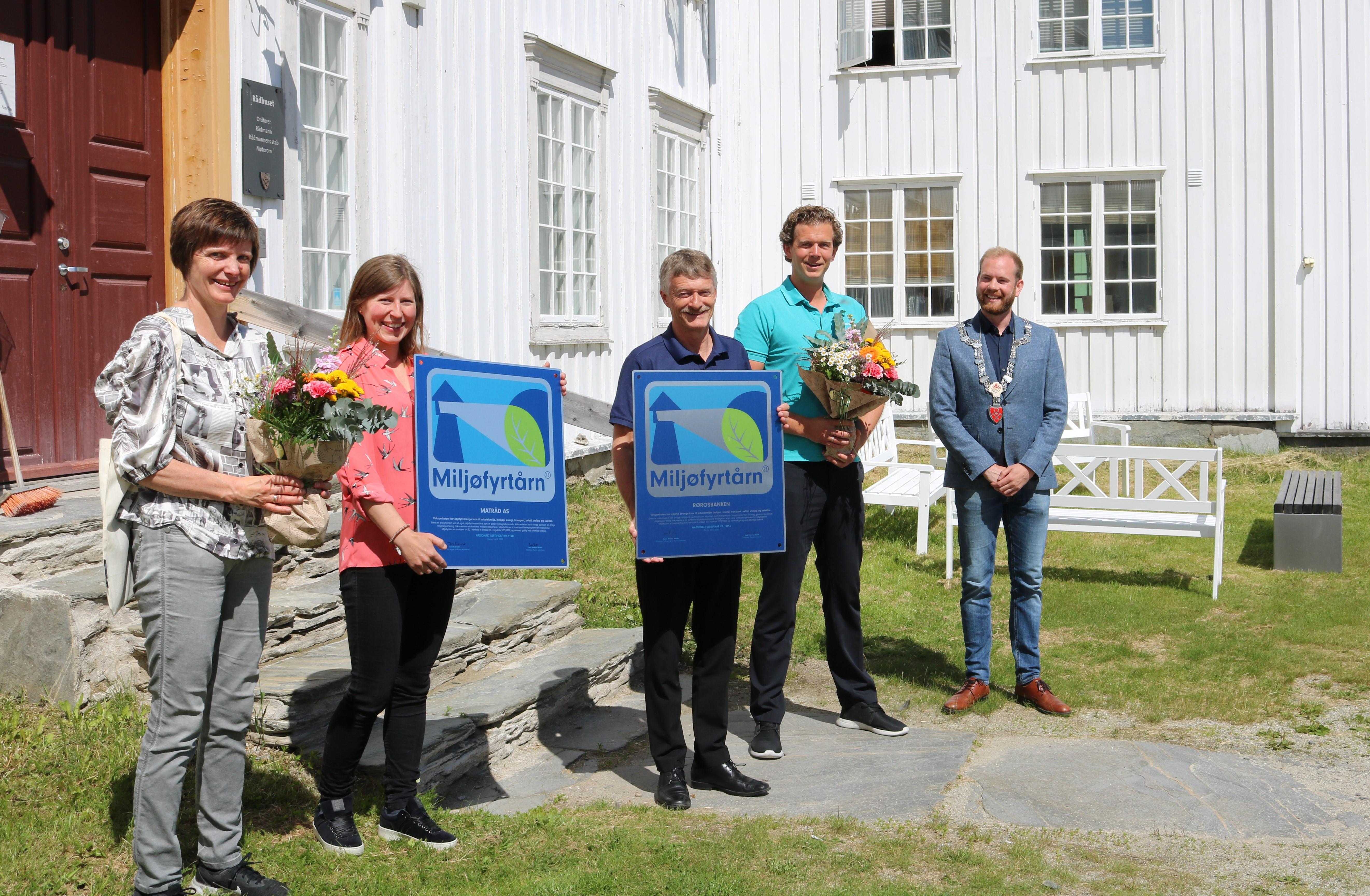 Rørosbanken og Matråd er sertifisert som miljøfyrtårn