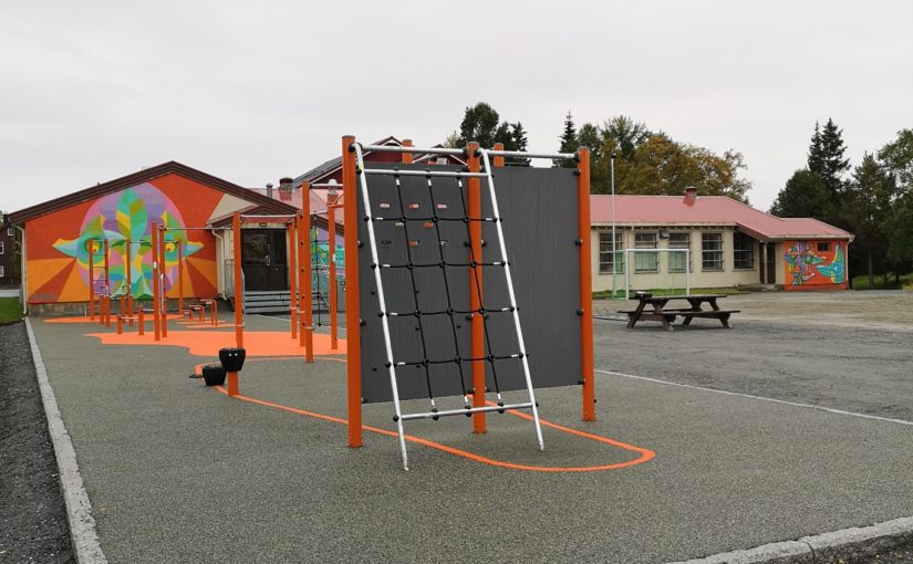 Trinn 1 i skolegårdsprosjektet offisielt åpnet